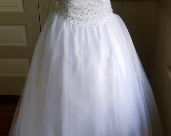 Vintage Scott McClintock- Millennium 2000 White Ball/Wedding Gown Size 12