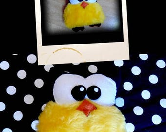 Plush OWL Brown and yellow soft APLUCHES