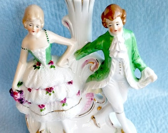 "German Porcelain Dancing Couple, Marked  ""G  DEP""  Germany"