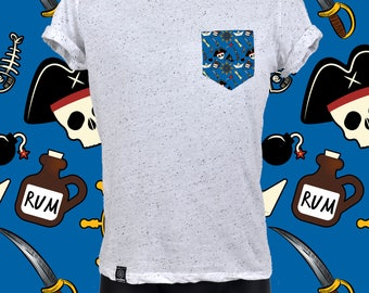 "POCKET TEE ""SPECKLED"" pirates"