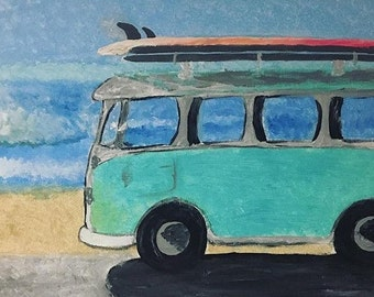 Surf Van Painting