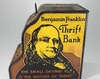 Benjamin Franklin Tin Thrift Bank