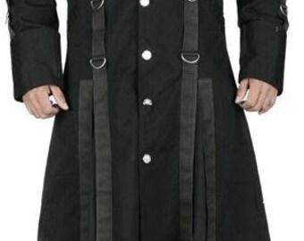 Stylish Gothic Emo Punk Long Coat For Men