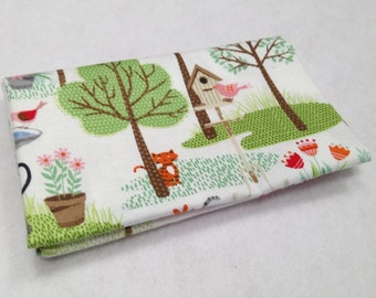 CRAFTY CATS fabric cotton patchwork Crafty Cats cats in the garden x50cm