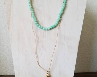 Mint Green Quartz Necklace