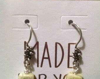 Peridot Jasper Sterling Silver Earrings