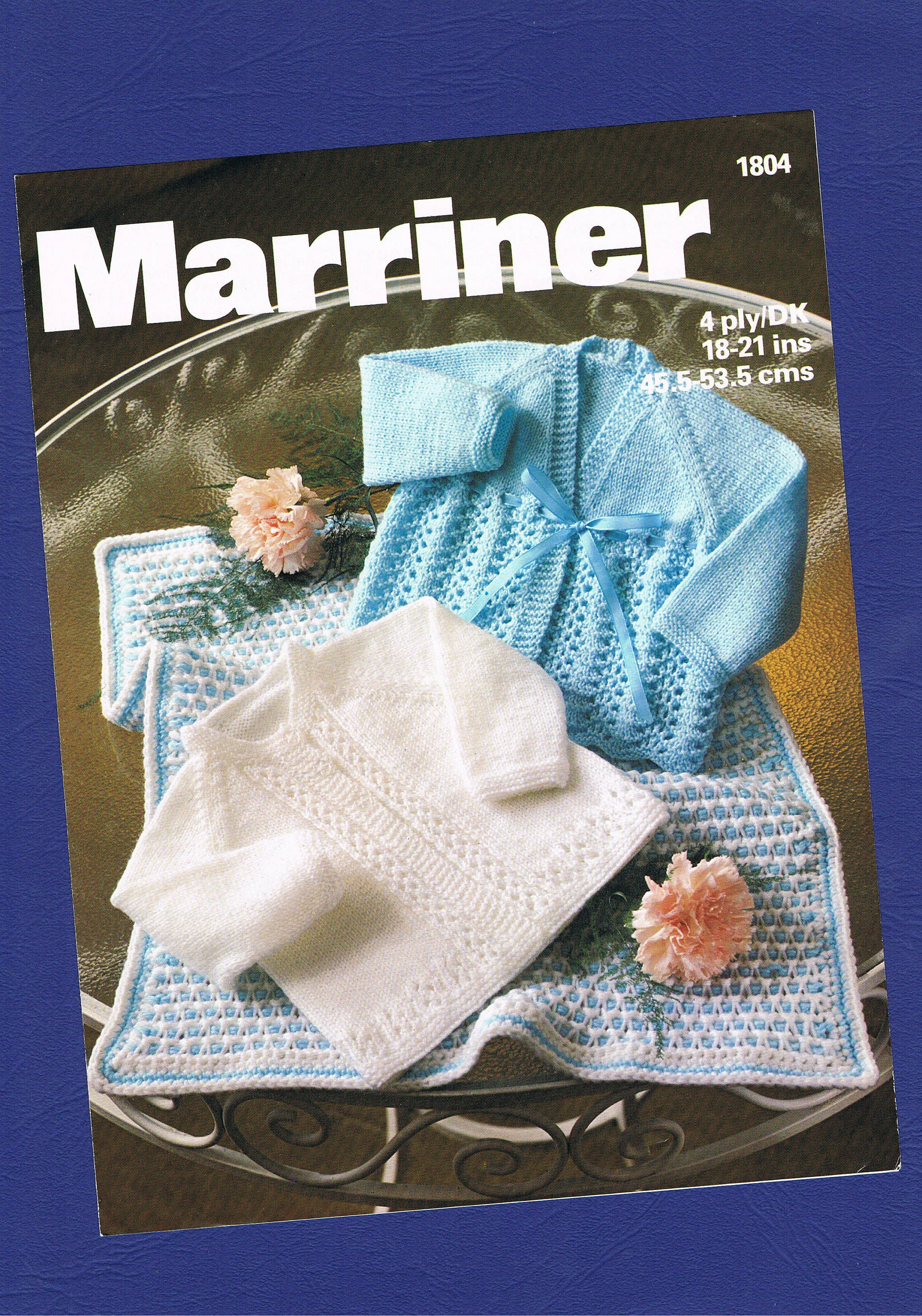 3844a5f5a Original Vintage Marriner Baby Clothes Knitting Pattern 1804 ...
