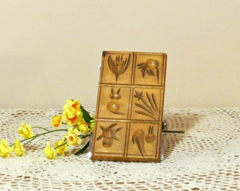 Vintage Wooden Springerle Cookie Board German Biscuit Design Picture Cookies Baking Accessory Kitchen Bakeware Nayco Products Philadelphia