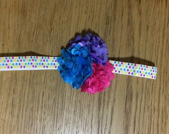 Pink,Purple,Turquiose Stretch Headband