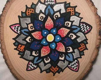 Mandala Art on Wood