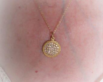 women gold plated swarovski necklace