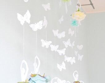 flower curtain,dancing ballerina lace,ornament, hanger,flower,ballet,rose,mobile,wedding,window decoration,rose,garland,