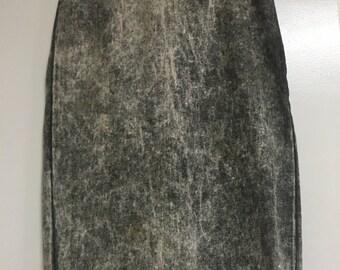Vintage 90's Acid washed high waist Bongo skirt