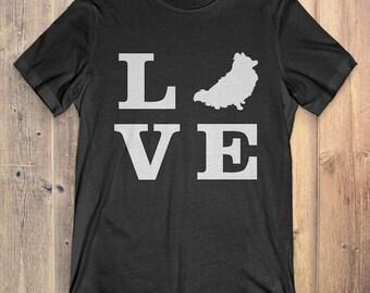 Pomeranian Dog T-Shirt Gift: I Love Pomeranian
