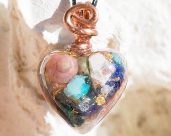 Orgone Pendant with Necklace - Life Force Generator 528hz /  EMF Protection - Artisan Jewelry