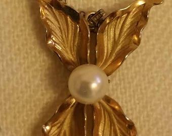 "1960's 12k GF Faux Pearl 15"" Necklace"