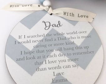 Dad/Daddy Personalised Sign/Plaque Gift