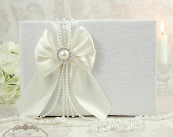 Ivory Wedding Guest Book, Guest Book, Wedding Guest Book, Guest Book Wedding, Wedding Guestbook, Wedding Album Personalized, Wedding gift