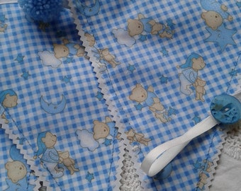 Blue baby bunting