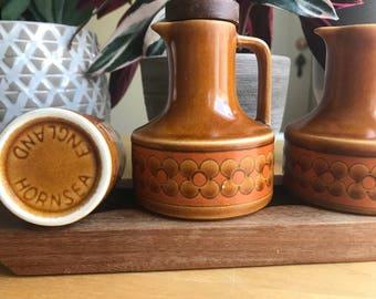 Hornsea Saffron Condiment Set, Designed by John Clappison