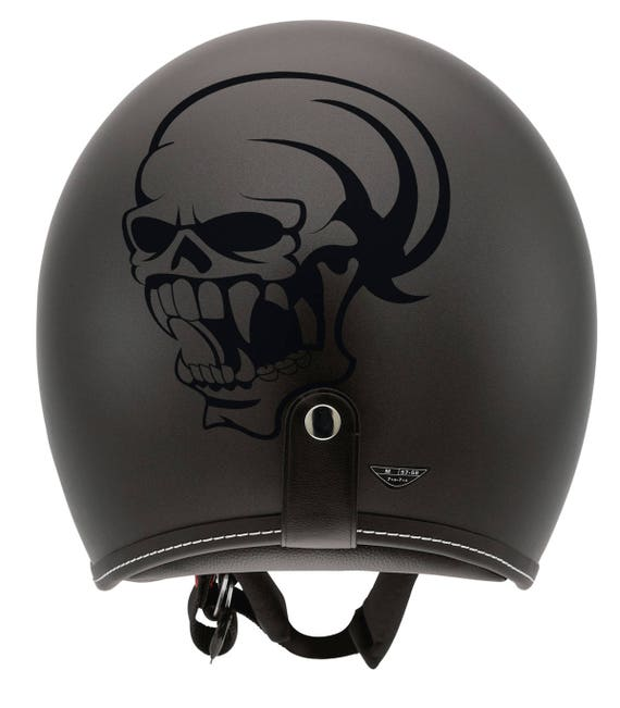 Skull with big teeth silhouette, Vampire Skull decal / sticker, Darkness, nosferatu, cranium, malignant spirit, monster, teeth