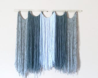 Large Boho Yarn Wall Hanging-Wall Decor-Boho-Nuetral-Dorm Decor-Tapestry-Housewarming
