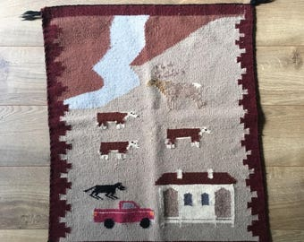 Authentic Navajo Tribe Handwoven Rug/wall hanging