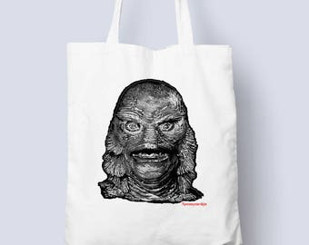 Creature from the Black Lagoon Tote bag for all those horror occasions (horror,monster tote bag,gift for him,gift for her,creature,)