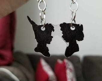 Peter Pan-Inspired Silhouette Necklace