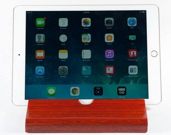 African Padauk Wood iPad Stand/ Docking Station /Charging Station