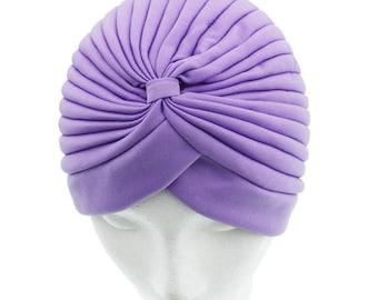Lavender Turban Hat Head wrap, Handmade Turban, Twist Turban, Chemo Hat turban, Hair Loss Hat, Head Wrap, Women Turban Hat, Vintage Hat