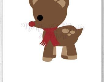 Baby Rudolph SVG