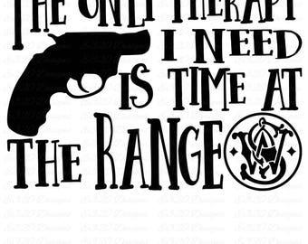 Smith & Wesson Gun Range Therapy SVG Cut File