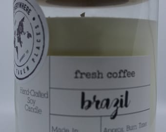 BRAZIL - Fresh Coffee: Hand-Crafted Soy Candle