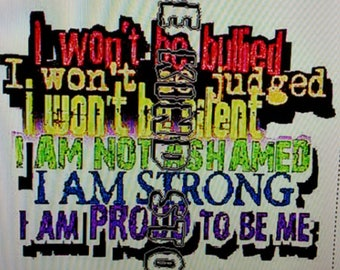 Autism Strong iron-on transfer