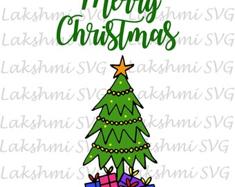 Merry Christmas SVG, Christmas SVG,Merry Christmas,Christmas tree Svg, cut file, printable, cricut, silhouette, instant download