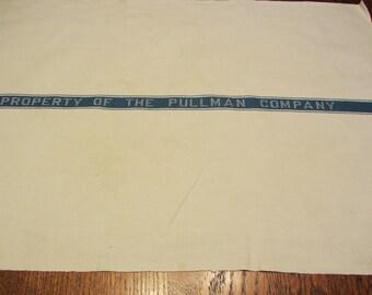 "Vintage ""Pullman Company"" Linen Napkin"