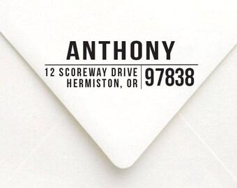 Modern Address Stamp, Personalized Address Stamp, Self-Inking Address Stamp, Custom Address Stamp, Housewarming Gift