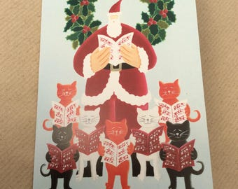 Cat Christmas cards - 6 pack