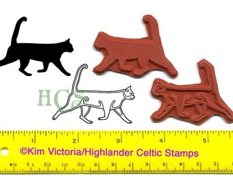 Celtic Cats set of 2 Unmounted Rubber Stamps #464
