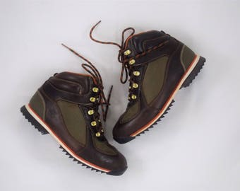 Vintage Timberland Genuine Leather Hiking Boots