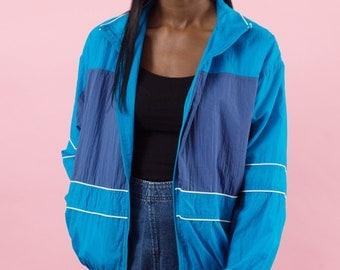 Vintage 90s, 90s Windbreaker, Blue, Spring Jacket, Jacket, Wind Jacket, Sports Jacket, 90s, Athletic, 90s Clothes, Rave Clothing, Vaporwave