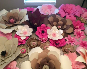 Large and Extra Large Paper Flowers