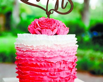 Wedding Cake Topper Letter M N Wood Monogram Wedding Cake Topper M letter N Rustic Cake Topper hearts cake topper N cake topper M gold