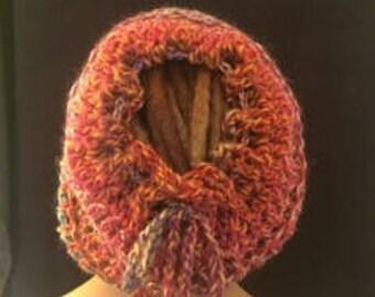 Crochet, Handmade, Dreadlock tube hat.