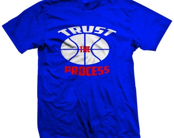 Inspirational Quotes Basketball T-shirt|Personalized Trust the Process Novelty Tee, Philadelphia 76ers Sports Apparel