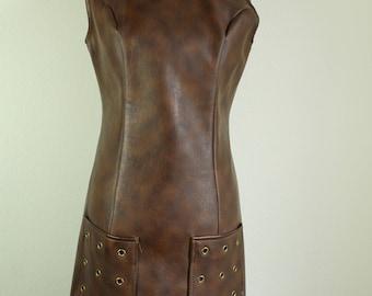 1960s Leather Dress