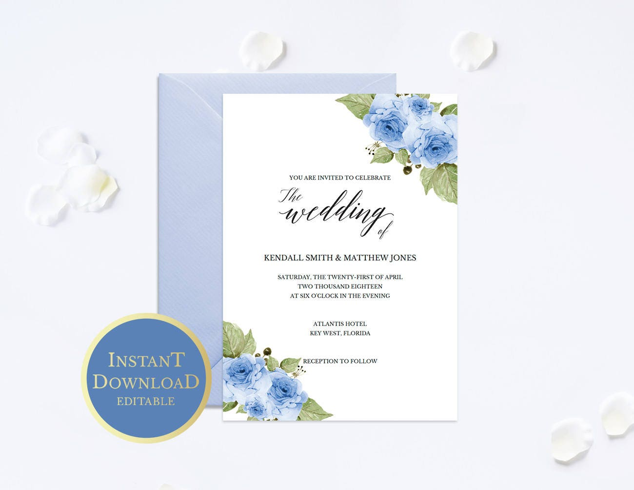 Wedding Invitation Template,Wedding Invitation Printable,Floral ...