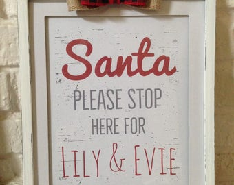 Personalized Santa Stop Here For Sign