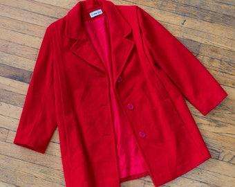 Herman Kay Red Wool Coat